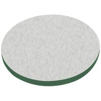 American Tables & Seating ATS60 60 inch Round Laminate Table Top with Green Edge