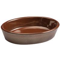 Hall China 5700ACOA Copper 6 oz. China Oval Baker Dish - 24/Case