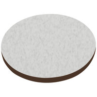 American Tables & Seating ATS60 60 inch Round Laminate Table Top with Brown Edge