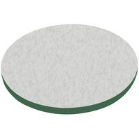 American Tables & Seating ATS48 48 inch Round Laminate Table Top with Green Edge