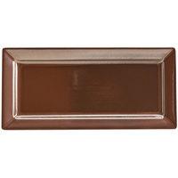 Hall China 18110ACOA Copper 14 inch China Rectangle Platter - 6/Case