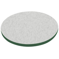 American Tables & Seating ATS42 42 inch Round Laminate Table Top with Green Edge