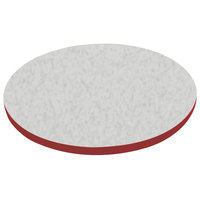 American Tables & Seating ATS24 24 inch Round Laminate Table Top with Red Edge