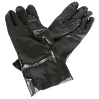 Black Sandpaper Supported 14 inch PVC Gloves with Jersey Lining - Large - Pair   - 12/Pack