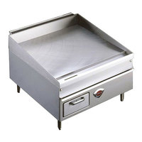 Wells 2424G 24 inch x 25 inch Stainless Steel Gas Countertop Griddle - 50000 BTU