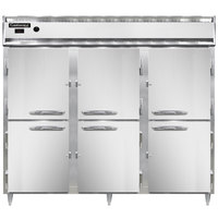 Continental DL3WE-SS-HD 86 inch Extra-Wide Half Solid Door Reach-In Heated Holding Cabinet - 3000W