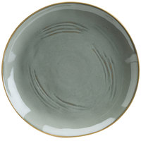 Hall China 47590ASGA Studio 10 1/2 inch Gray China Plate - 12/Case