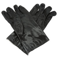 Black Etched Supported 12 inch PVC Gloves with Jersey Lining - Large - Pair - 12/Pack