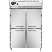 Continental DL2W-SS-HD 52 inch Half Solid Door Reach-In Heated Holding Cabinet - 2250W