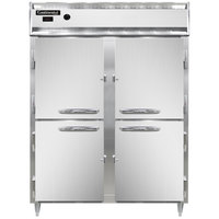 Continental DL2WE-SS-HD 57 inch Extra-Wide Half Solid Door Reach-In Heated Holding Cabinet - 2250W