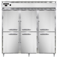Continental DL3W-SS-HD 78 inch Half Solid Door Reach-In Heated Holding Cabinet - 3000W