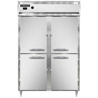 Continental DL2W-HD 52 inch Half Solid Door Reach-In Heated Holding Cabinet - 2250W