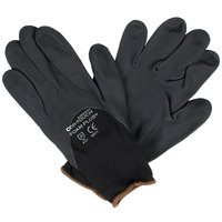 Cor-Touch Foam Plus Black Nylon Gloves with Black Foam Nitrile / Polyurethane Palm Coating - Large - Pair   - 12/Pack