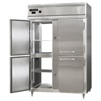 Continental DL2W-SS-PT-HD 52 inch Half Solid Door Pass-Through Heated Holding Cabinet - 2250W