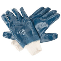 Smooth Supported Nitrile Gloves with Jersey Lining - Small - Pair - 12/Pack