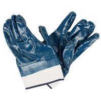 Rough Supported Nitrile Gloves with Jersey Lining and 2 1/2 inch Safety Cuffs - Extra Large - Pair - 12/Pack