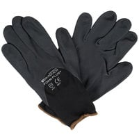 Cor-Touch Foam Plus Black Nylon Gloves with Black Foam Nitrile / Polyurethane Palm Coating - Extra Large - Pair - 12/Pack