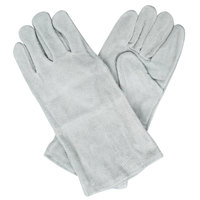 Men's Gray Shoulder Split Leather Welder's Gloves with Cotton Sock Lining - Extra Large - Pair