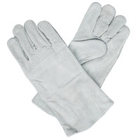 Men's Gray Two-Piece Shoulder Split Leather Welder's Gloves with Cotton Sock Lining - Extra Large - Pair