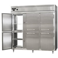 Continental DL3W-SA-PT-HD 78 inch Half Solid Door Pass-Through Heated Holding Cabinet - 3000W