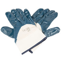 Smooth Supported Palm Coated Nitrile Gloves with Jersey Lining and 2 1/2 inch Safety Cuffs - Extra Large - Pair - 12/Pack
