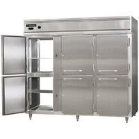 Continental DL3WE-SS-PT-HD 86 inch Extra-Wide Half Solid Door Pass-Through Heated Holding Cabinet - 3000W