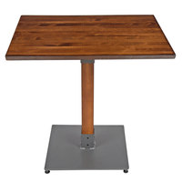 Lancaster Table & Seating 24 inch x 30 inch Antique Walnut Solid Wood Live Edge Dining Height Table