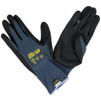 ActivGrip Advance Gray / Purple Nylon Gloves with Black MicroFinish Nitrile Palm Coating - Large - Pair