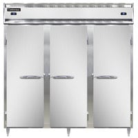 Continental DL3RFF 78 inch Solid Door Dual Temperature Reach-In Refrigerator/Freezer/Freezer