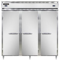 Continental DL3RFF-SA 78 inch Solid Door Dual Temperature Reach-In Refrigerator/Freezer/Freezer