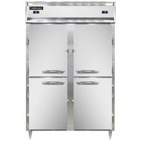 Continental DL2RFS-HD 52 inch Solid Half Door Shallow Depth Dual Temperature Reach-In Refrigerator/Freezer
