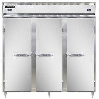 Continental DL3RRF-SA 78 inch Solid Door Dual Temperature Reach-In Refrigerator/Refrigerator/Freezer