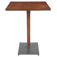 Lancaster Table & Seating 24 inch x 30 inch Antique Walnut Solid Wood Live Edge Bar Height Table