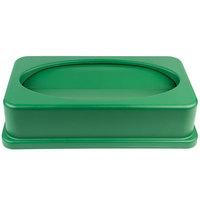 Lavex Janitorial Green Slim Trash Can Swing Lid