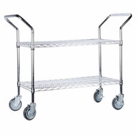 Regency 18 inch x 24 inch Two Shelf Chrome Heavy Duty Utility Cart