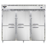 Continental DL3RRF-SS-HD 78 inch Solid Half Door Dual Temperature Reach-In Refrigerator/Refrigerator/Freezer