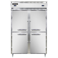 Continental DL2RFS-SS-HD 52 inch Solid Half Door Shallow Depth Dual Temperature Reach-In Refrigerator/Freezer