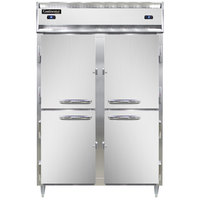 Continental DL2RF-SS-HD 52 inch Solid Half Door Dual Temperature Reach-In Refrigerator/Freezer