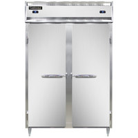 Continental DL2RFS-SS 52 inch Solid Door Shallow Depth Dual Temperature Reach-In Refrigerator/Freezer