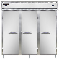 Continental DL3RFF-SS 78 inch Solid Door Dual Temperature Reach-In Refrigerator/Freezer/Freezer