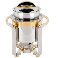 Vollrath 48326 4.2 qt. Panacea Soup Marmite with Gold Accents