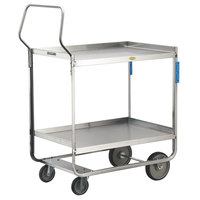 Lakeside 4759 Handler Series Stainless Steel Three Shelf Heavy-Duty Utility Cart - 22 3/8 inch x 54 5/8 inch x 49 1/8 inch