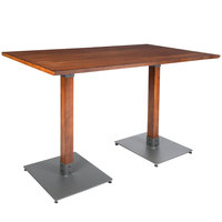 Lancaster Table & Seating 30 inch x 60 inch Antique Walnut Solid Wood Live Edge Bar Height Table