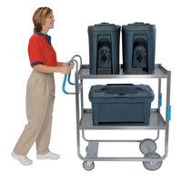 Lakeside 7010 Heavy-Duty Stainless Steel Two Shelf Ergo-One System Utility Cart - 18 5/8 inch x 35 3/8 inch x 46 3/4 inch