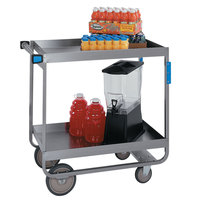 Lakeside 757 Heavy-Duty Stainless Steel Deep Two Shelf Utility Cart - 22 1/4 inch x 54 inch x 37 1/4 inch