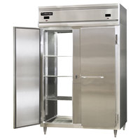 Continental DL2RF-PT 52 inch Solid Door Dual Temperature Pass-Through Refrigerator/Freezer
