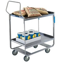 Lakeside 4758 Handler Series Stainless Steel Two Shelf Heavy-Duty Utility Cart - 22 3/8 inch x 54 5/8 inch x 49 1/8 inch
