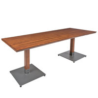 Lancaster Table & Seating 30 inch x 72 inch Antique Walnut Solid Wood Live Edge Dining Height Table
