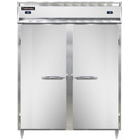 Continental DL2RFES-SS 57 inch Solid Door Extra-Wide, Shallow Depth Dual Temperature Reach-In Refrigerator/Freezer