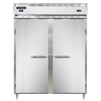 Continental DL2RFE-SS 57 inch Solid Door Extra-Wide Dual Temperature Reach-In Refrigerator/Freezer